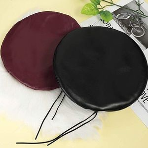 Wine Red Beret faux leather hat